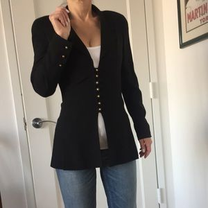 Chanel Boutique Classic Black light wool Jacket